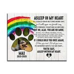 Asleep Within My Heart Gift For Dog Lovers Custom Name And Number And Photo Matte Canvas