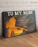 Matte Canvas Firefighter Son Gift For Mom Always Your Little Boy