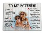 Love You So Much Gift For Boyfriend Custom Name And Photo Matte Canvas