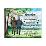 You Fill My World With Love Hunting Custom Name Matte Canvas Granddaughter Gift For Grandpa