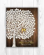 Wedding Anniversary Tree Custom Name And Number Matte Canvas Gift For Lover