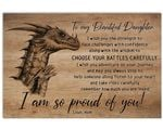 Dragon So Proud Of You Matte Canvas Mom Gift For Daughter