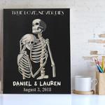 True Love Never Dies Skeleton Custom Name And Number Matte Canvas