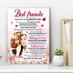 Gift For Best Friends Accept You As You Are Custom Name And Photo Matte Canvas