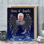Custom Photo And Name Gift For Dad Matte Canvas Arms Of Angels