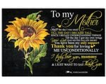 Matte Canvas Daughter Gift For Mom Thank For Loving Me Unconditionally