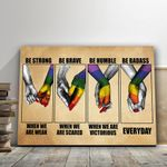 Lgbt When We Are Weak Be Strong Matte Canvas