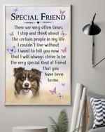 Special Friend Australian Shepherd Dog Gift For Dog Lovers Matte Canvas