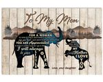 Elephant I Love You Gift For Mom Matte Canvas
