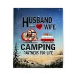 Camping Partners For Life Custom Photo Matte Canvas