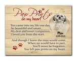 You Left Paw Prints On My Heart Gift For Dog Lovers Custom Name And Photo And Number Matte Canvas