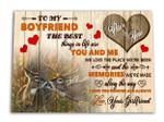 Love You Forever Gift For Boyfriend Deer Custom Name Matte Canvas