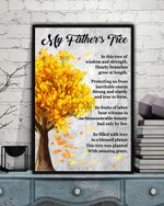 My Father's Tree Matte Canvas Gift For Family Autumn Season