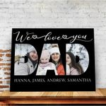 We Love You Dad Custom Name And Photo Matte Canvas