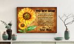 Sunflower Mom Gift For Son Matte Canvas So Proud Of You