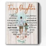 Wherever Your Journey Beach Dad To Daughter Matte Canvas