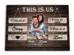 This Is Us A Little Bit Of Crazy Gift For Lover Custom Name And Photo And Number Matte Canvas
