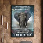 Elephant I Am The Storm Wild Life Matte Canvas