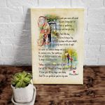 To My Son I'm So Grateful Love Letter Matte Canvas