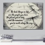 Dragonfly Made Along The Way Matte Canvas Gift