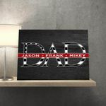 Father's Day Thin Red Line Custom Name Matte Canvas