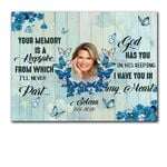Custom Name And Photo Matte Canvas Gift For Wife God Has You
