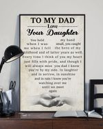 You're By My Side Daughter Gift For Dad Matte Canvas