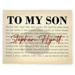 Gift For Son I Will Always Love You Custom Name Matte Canvas
