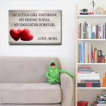 My Daughter Forever Mom Gift For Daughter Matte Canvas