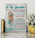 Mermaid God Took You Home Matte Canvas Mom Gift For Daughter