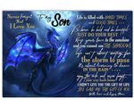 Blue Dragon Just Do Your Best Matte Canvas Mom Gift For Son