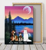 Inside Your Heart Gift For Dog Lovers Custom Name Matte Canvas