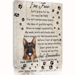 I'm Free Gift For Dog Lovers Custom Name And Photo And Number Matte Canvas