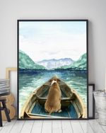 American Bulldog On The Boat Gift For Dog Lovers Matte Canvas