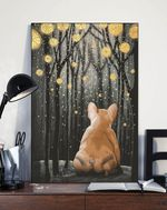 French Bulldog Night Forest Gift For Dog Lovers Matte Canvas