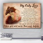 Dragon Love You More Than Ever Before Matte Canvas Gift