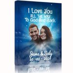 Love You All The Way Custom Photo And Name And Number Matte Canvas