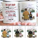 Gift For Firefighter Dad I Love You Custom Name Printed Mug