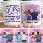 Behind Every Great Nurse Is Daddy Gift For Dad Custom Name Printed Mug