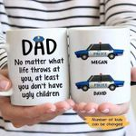 No Matter What Police Dad Thin Blue Line Gift For Dad Custom Name Printed Mug
