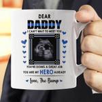 Dear Daddy Police I Can't Wait To Meet You Thin Blue Line Custom Name Printed Mug