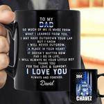 I Love You Always And Forever Thin Blue Line Gift For Dad Custom Name Printed Mug