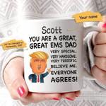 Donald Trump You Are A Great Paramedic Dad Custom Name Printed Mug