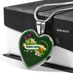 Poodle Dog Lovers St Patrick Day Gift Necklace