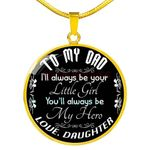 Gift For Dad 18k Gold Necklace Your Little Girl My Hero