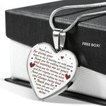 Wedding Gift Silver Heart Pendant Necklace Thanks For Giving Your Heart To Me