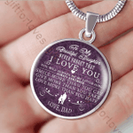 Birthday Gift For Daughter Silver Circle Pendant Necklace Never Forget That I Love You