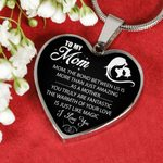 You Truly Are Fantastic Silver Heart Pendant Necklace Giving For Mom