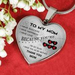 Birthday Gift For Mom Silver Heart Pendant Necklace I Have Success