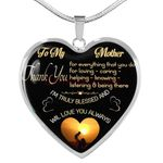 Gift For Mum Necklace Thank You For Everything That You Do